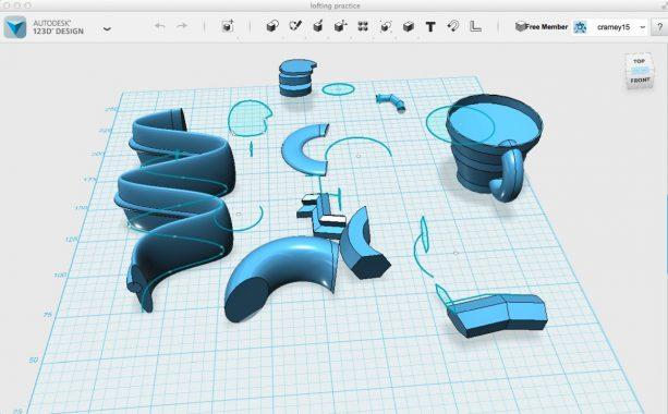123d design autodesk modellazione 3d download