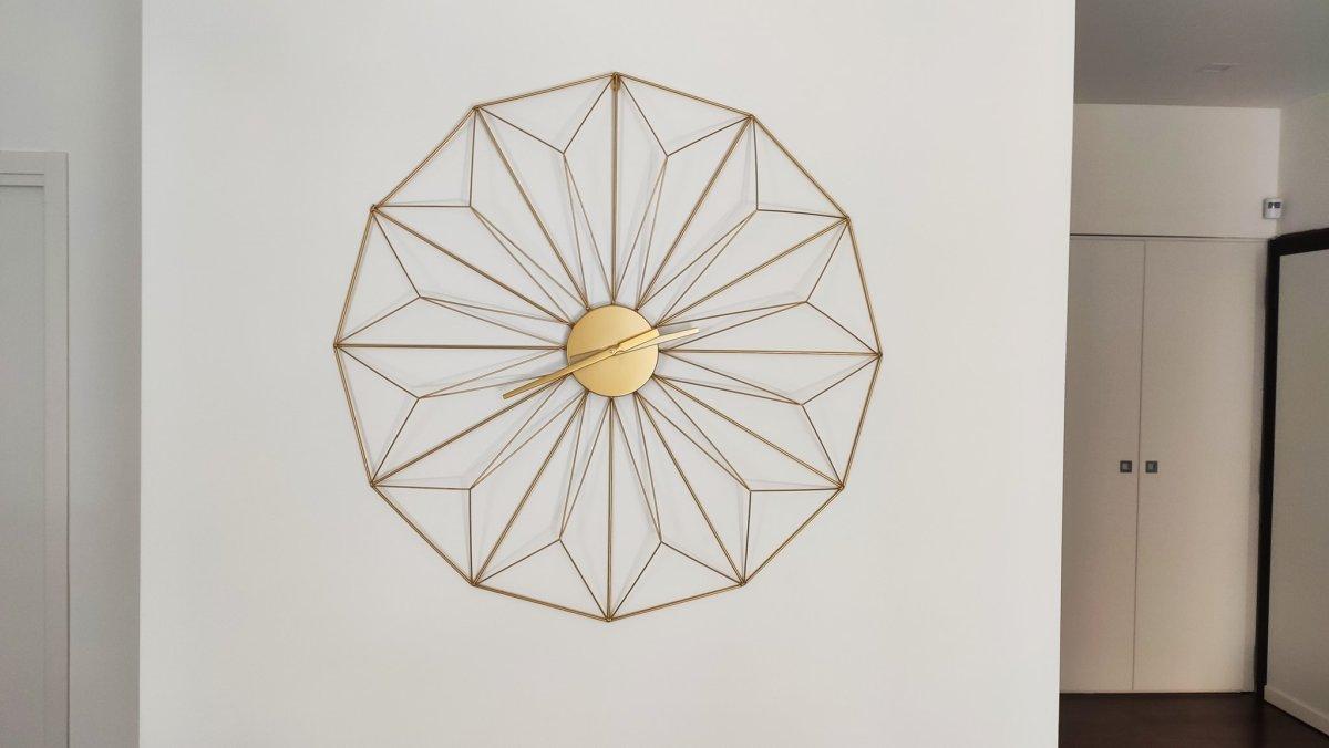 Orologi da parete di design, colore oro, stilizzato, Maisond du Monde senza numeri