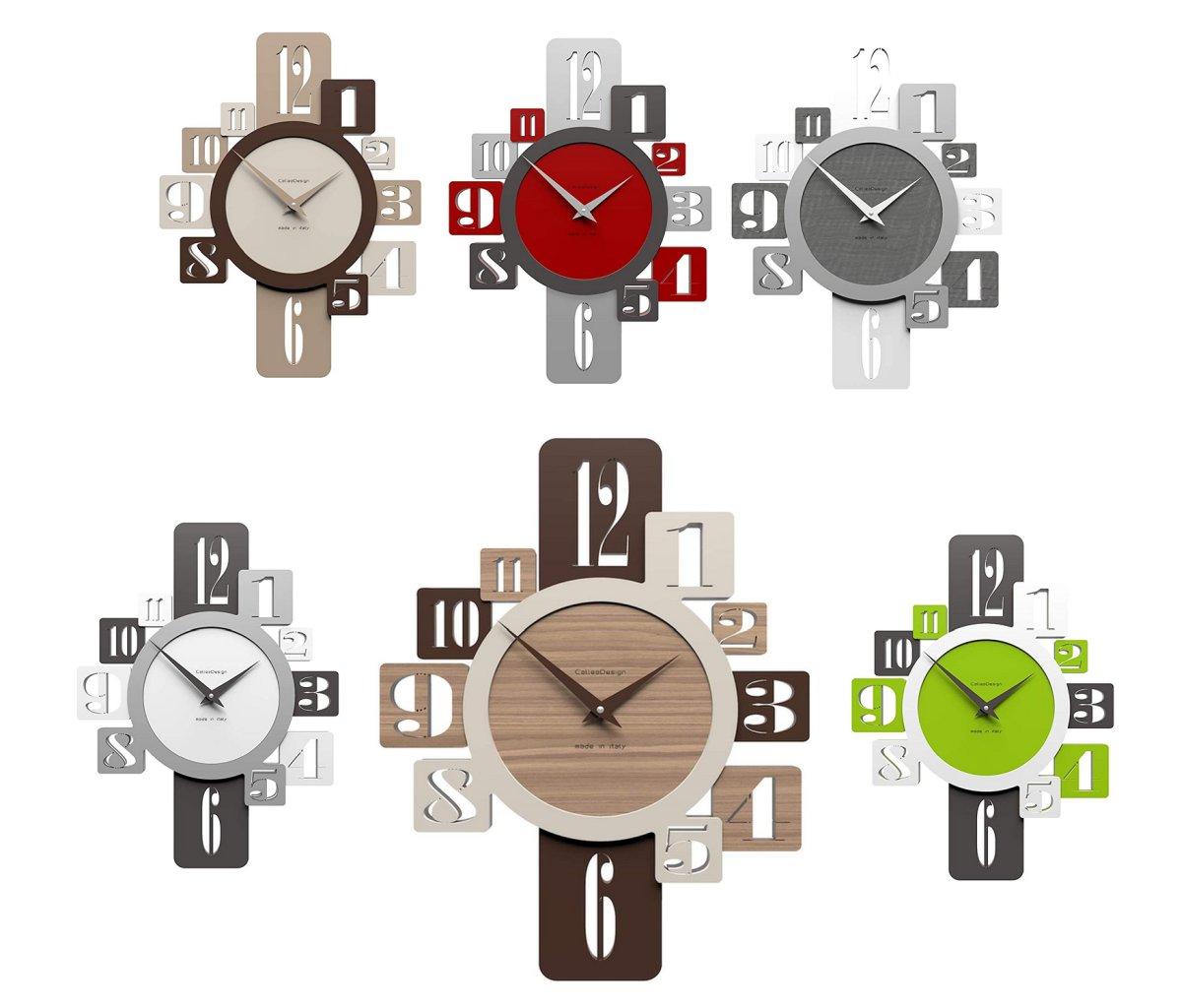 orologio-da-parete-design-in-legno-noce-verde-silver-lino-rosso