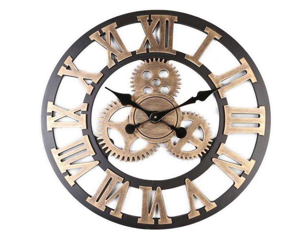 orologio-da-parete-stile-industriale-vintage-colori-oro- nero-silver