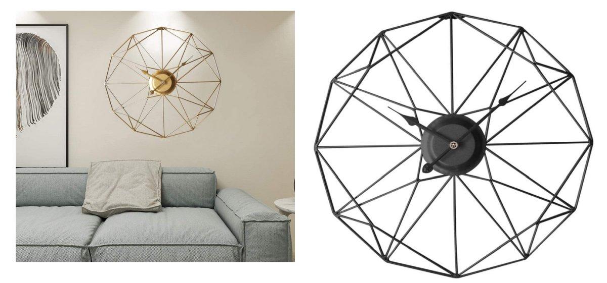 orologio-design-da-.parete-stilizzato-vintage-moderno-oro-nero
