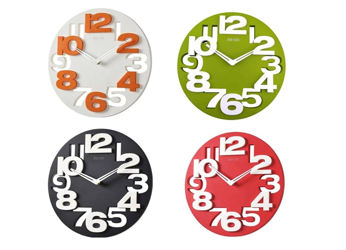 winomo-orologio-da-parete-di-design-moderno-effetto3d-traforato-colori-rosso-nero-verde-bianco-arancione
