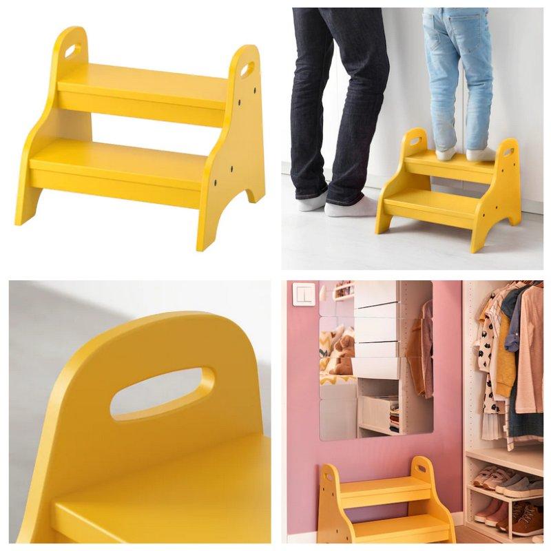 Sgabello-per-bambini-TROGEN-giallo