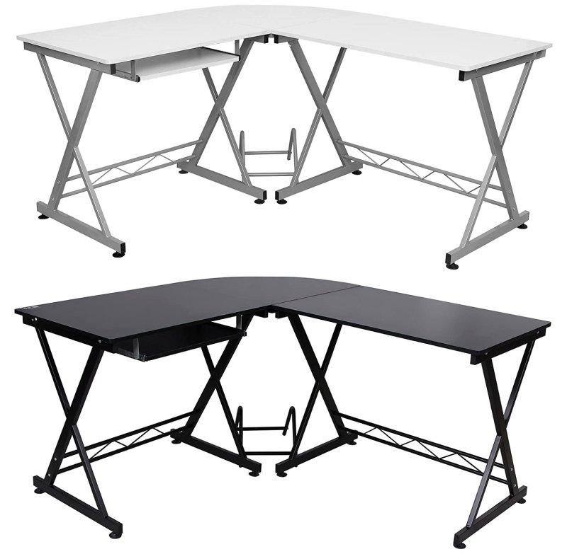 scrivania-ufficio-lavoro-minimal-bianco-nero-metallo-ferro-laccato