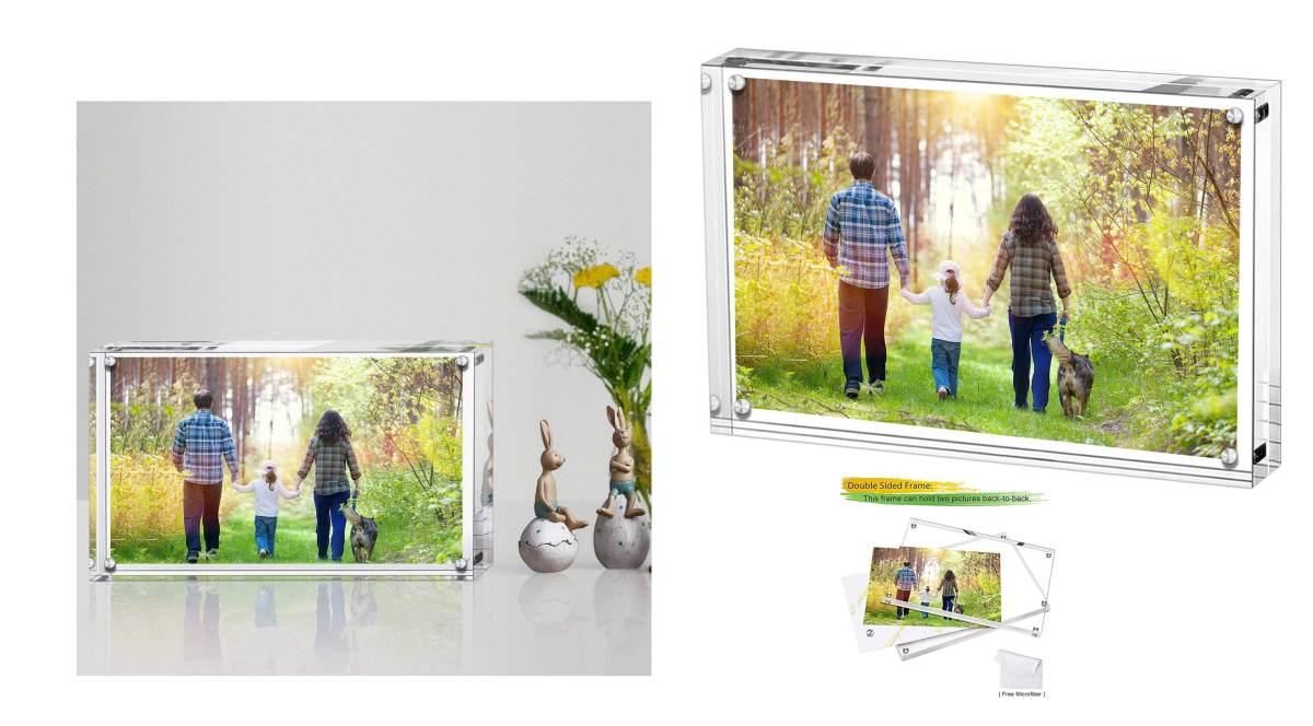 cornice-3d-plexiglass-trasparente-con-chiusura-magnetica-prezzo-low-cost
