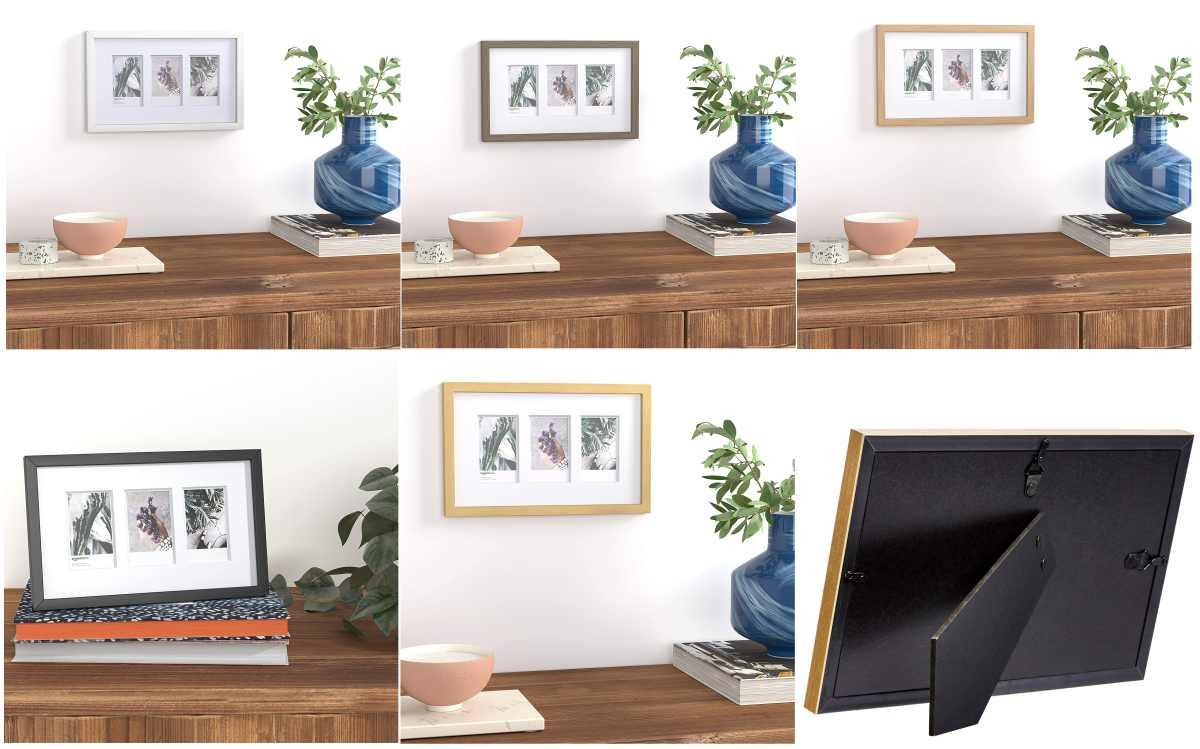 cornice-basic-legno-rettangolare-colori-bianco-nero-legno-chiaro-marrone