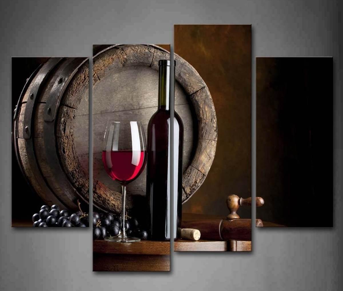 quadro-moderno-natura-morta-frutta-vino-amazon