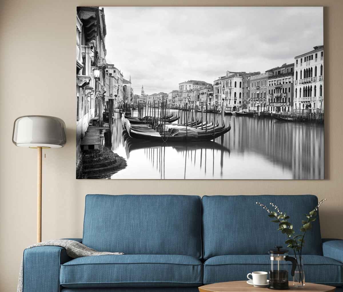 quadro-stampa-su-tela-ikea-venezia-bianco-e-nero