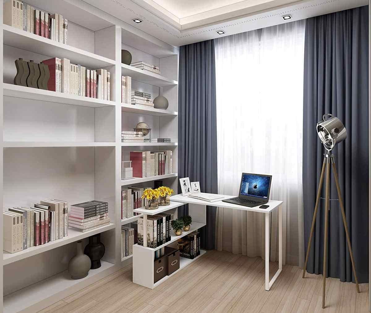 scrivania-angolare-bianca-girevole-porta-pc-fisso-portatile-costo-basso-economico-amazon