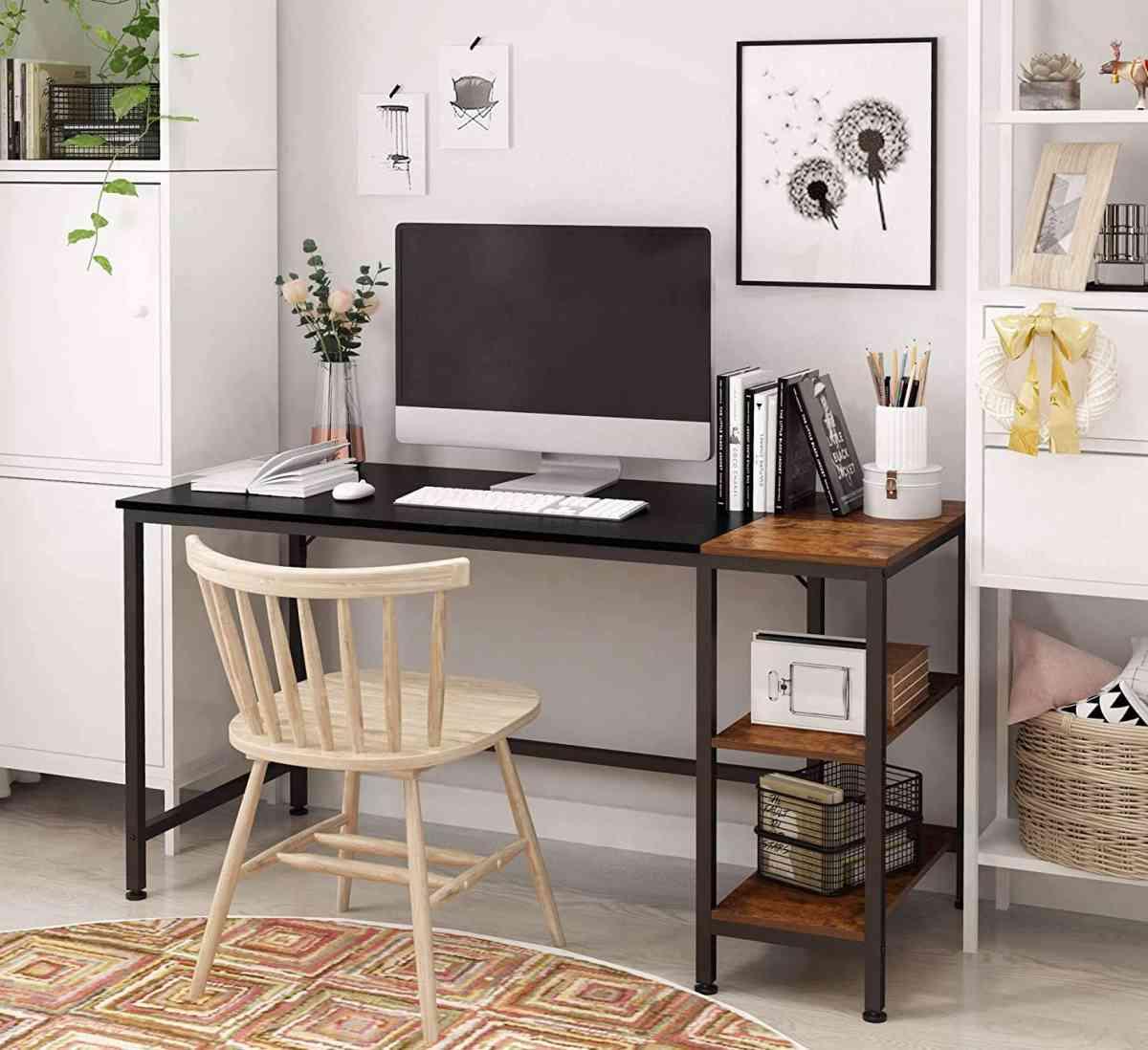 scrivania-pc-computer-legno-metallo-nero-prezzo-low-cost