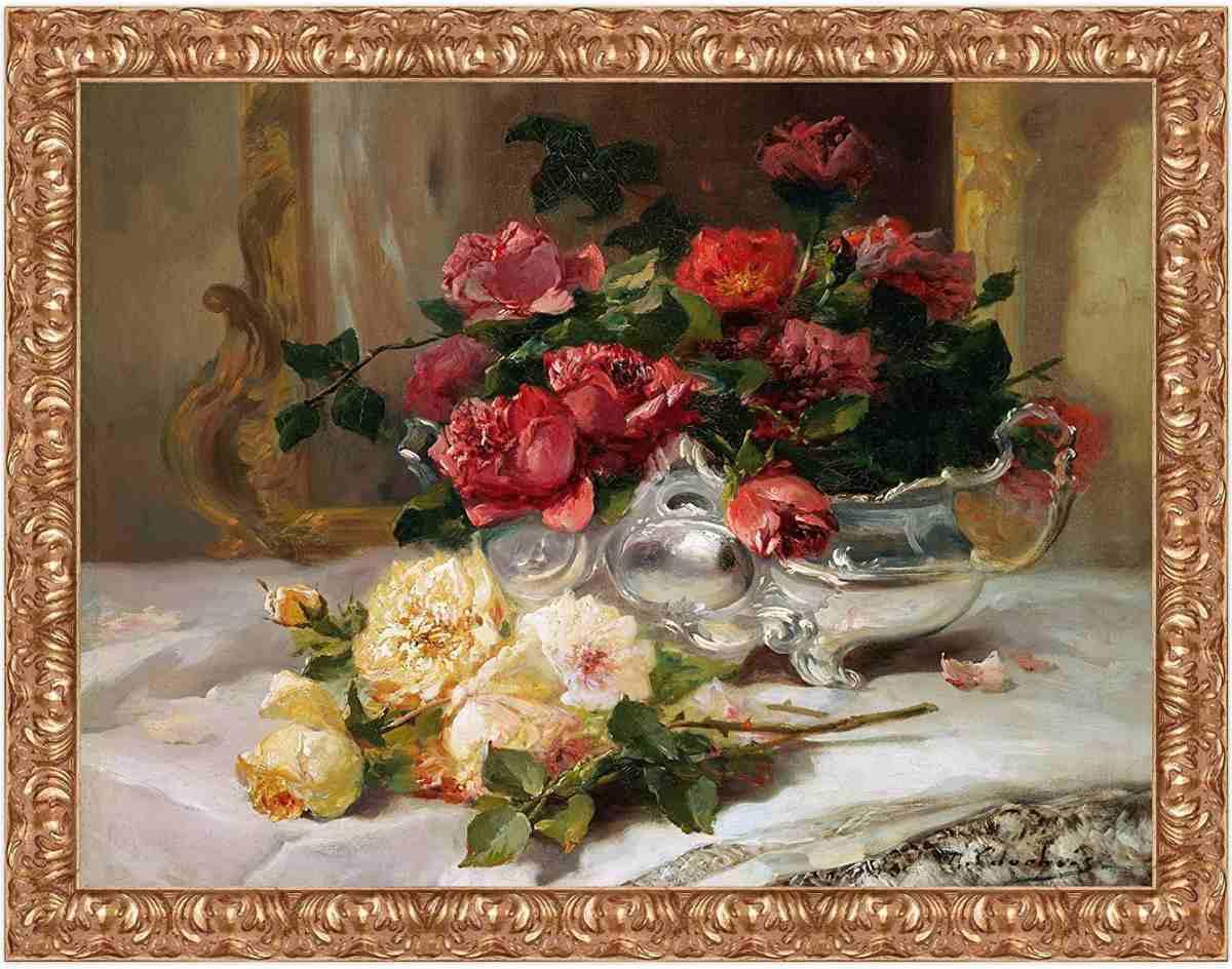 stampa-su-tela-di-quadro-famoso-antico-classico-amazon-fiori-vaso
