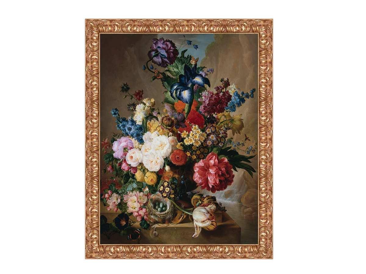 stampa-su-tela-quadro-famoso-classico-antico-con-cornice-in-legno-colore-oro-natura-morta-fiori-vaso-Jan-Van-OS-Poppies