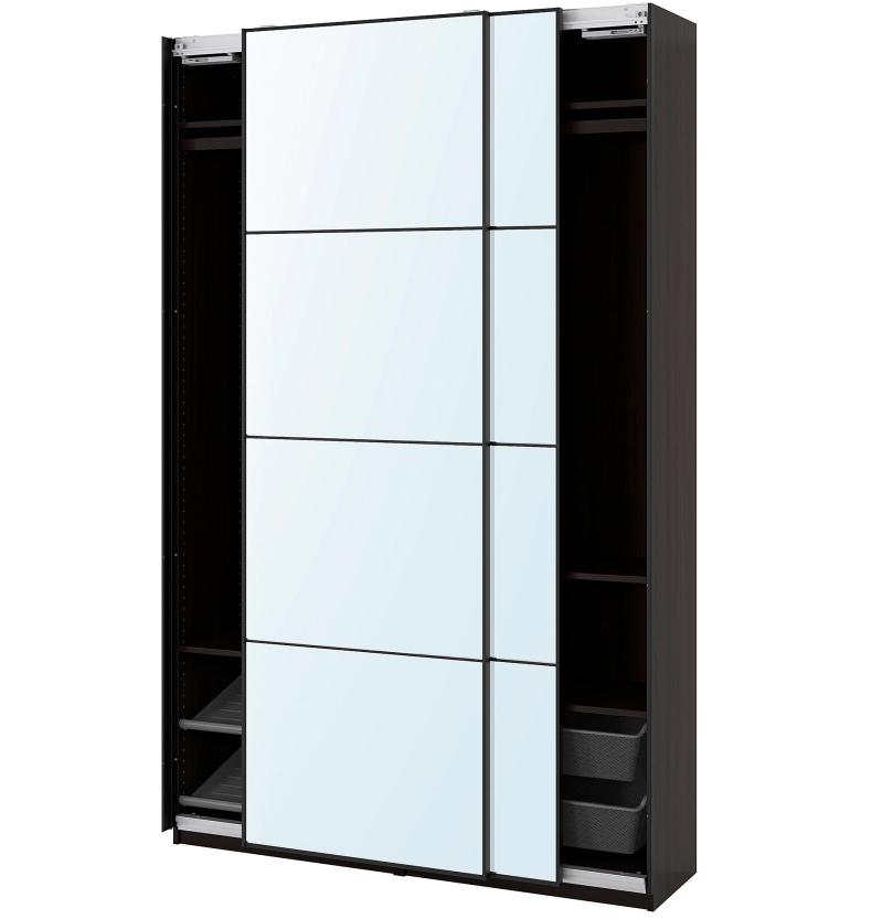 ante-scorrevoli-ikea-pax-auli-combinazione-di-guardaroba-marrone-nero-vetro-a-specchio